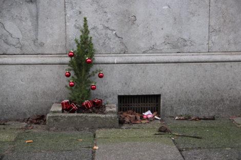 Kerst ligt op straat